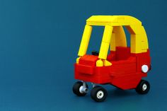#LEGO Little Tykes Cozy Coupe. Brings back memories.