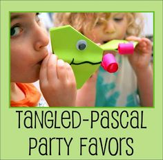 Disney's Tangled Party Favors --Pascal Get the free template and info. Rapunzel