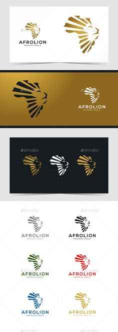 African Lion Logo Template - #Animals #Logo Templates