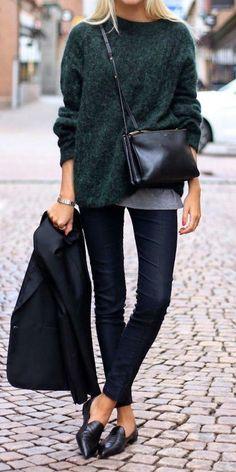 33 Trendy Street Style Winter Outfits. Skinny Jeans KombinierenSchwarze ... 7e550b8c7e