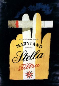 By Herbert Leupin, 1 9 5 6, Cigarettes Maryland, Stella Filtra.