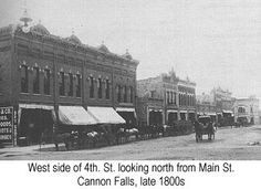 1800s towns in minnesota | ... . St. looking north from Main St., Cannon Falls, from the late 1800s