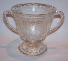 Vintage Hazel-Atlas Royal Lace GLASS Double Handle Cup