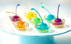Schatz-Burton - MOM!! Christmas jello shots!! Rainbow Cherry Jigglers ...
