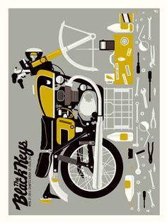 BLACK KEYS-MOTORCYCLE « Gig Poster Archive « Methane Studios