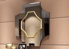 Miroir, mod: COIRA Feuille D'or, Furniture, Home Decor, Contact Form, Gold Leaf, Grand Designs, Bronze, Mirrors, Interior Design