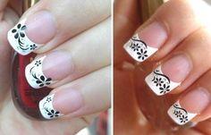Diseños de uñas con sellos estampados, diseño de uñas con sello frances.   #diseñodeuñas #acrylicnails #uñasdiscretas