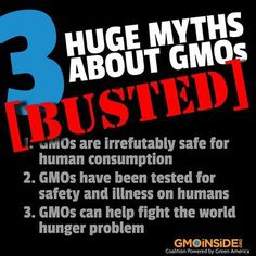 3 Huge Myths About GMOs BUSTED! Learn Here: