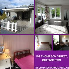#Rent A #Room #102 THOMPSON STREET STREET, TOWN CENTRE, $350 including bills couples room available. 5 bedroom WARM HOUSE, new paint, carpet, kitchen, bathrooms, very well furnished SKY TV on 40' flat screen. with fast FIBRE WIFI, Queen slat bed. Ultra fast broadband. More info: http://www.rentaroom.org.nz/102-thompson-street-queenstown/ Viewings on appointment only.
