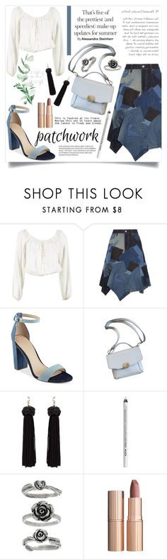 """All Patched Up"" by skrzatia ❤ liked on Polyvore featuring Reformation, Junya Watanabe, GUESS, NYX, Charlotte Tilbury and patchwork"