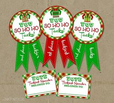 Ugly Sweater Holiday Party Awards and Voting Ballots