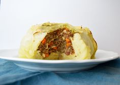 Lentil Stuffed Cabbage Head A vegan spin on an Eastern European recipe. Tender and delicious cabbage baked with a flavorful lentil stuffing.