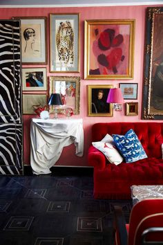 start with a colorful sofa