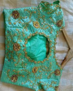 For beautiful ladies zardosi cutwork embroidery blouse 😀can be customised to any color n size 🤩To Order With Us, Call or Whatsapp Us at… Wedding Saree Blouse Designs, Fancy Blouse Designs, Blouse Neck Designs, Bridal Mehndi Designs, Dress Designs, Border Embroidery Designs, Cutwork Embroidery, Hand Work Design, Maggam Work Designs
