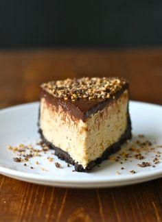 Southern -chocolate peanut butter pie dessert ideas peanut b Just Desserts, Delicious Desserts, Yummy Food, Pie Dessert, Dessert Recipes, Reese's Peanut Butter Cheesecake, Cheesecake Pie, Yummy Treats, Sweet Treats