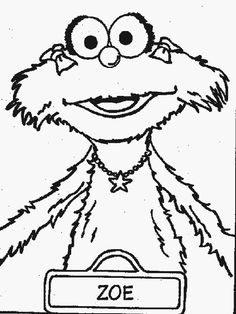 sesame street charactor zoey coloring sheets zoe sesame street coloring pages