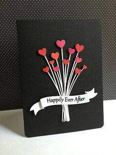 I'm in Haven: Happily Ever After. IO Heart Stems. I die cut twice with glossy paper & colored the heart portions with poppy parade, real red & melon mambo markers.  I placed a piece of pop up dot behind each heart and randomly placed them on the card.  I gathered all the stems and adhered a piece of scor tape over all the stems (hidden underneath the banner).  I cut all the stems to one level and stamped the Simon Says sentiment on the die cut banner, also by SSS on the same glossy paper.