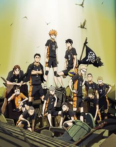 Haikyuu!! Second Season 2nd-cour anime key visual