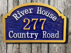 Custom Street Address sign / House number