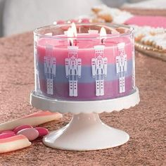 Just Desserts™ by PartyLite Nutcracker Layered 3-Wick Jar Candle