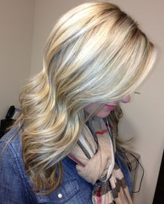 Long Ash blonde hair with lowlights