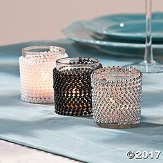 Pearls Candleholders Idea