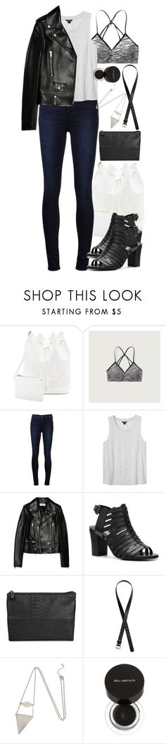 """""""Derek Inspired Spring Outfit"""" by veterization ❤ liked on Polyvore featuring Forever 21, Abercrombie & Fitch, J Brand, Monki, Yves Saint Laurent, Steve Madden, Merona, H&M and shu uemura"""