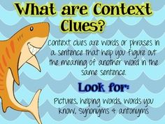 "FREE ""TALK LIKE A SHARK"" - A CONTEXT CLUE ACTIVITY"
