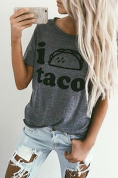 "Shop it: https://loox.io/p/V1lCcduFAx?ref=loox-pin | ""Awesome shirt!!!  Love Chaser's tees, they're so soft! I like the way this tee fits and of course the tacos......"" -Sam G. #Women #Shirts"