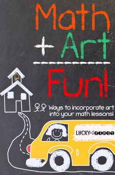 Math + Art = Fun | Check out these fun projects to incorporate art into your math lessons! via /mbuckets/