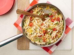 Tagliatelle with Corn and Cherry Tomatoes Recipe : Anne Burrell : Food Network - FoodNetwork.com