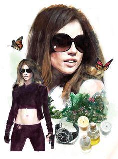 Increíbles ilustraciones realistas de Berto Martinez. Trabajos para Custo Barcelona, El País, Elle, Damm, Nike,…IWC_3_ok2