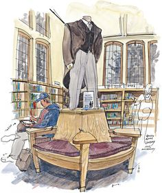 Queen Anne Library | Seattle Sketcher | The Seattle Times