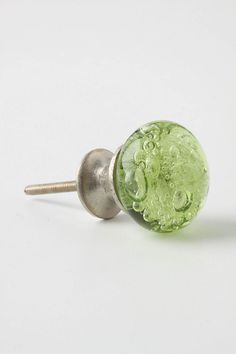 Bubbled Glass Knob (Olive) from Anthropologie.  Two please! $8