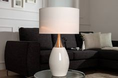 Stolné lampy : Stolná lampa Aaria 60 cm biela