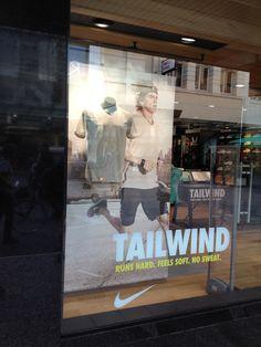 Nike Tailwind - retail window display. sportswear display.