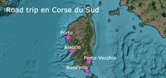 carte corse du sud roadtrip