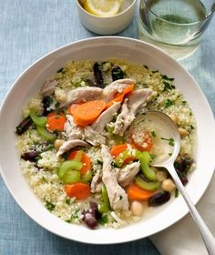 Mediterranean Chicken Soup Recipe.