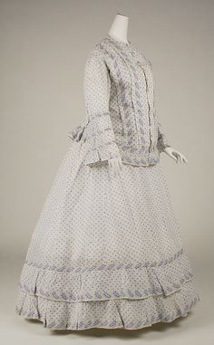 Morning dress Date: ca. 1860 Culture: American Medium: cotton