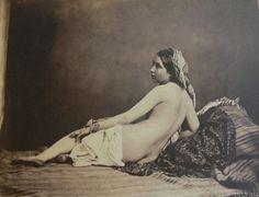 """Julien Vallou de Villeneuve (1795-1866) Le tableau vivant   Courbet à eu recours à ses clichés pour """"les baigneuses"""" 1853"""