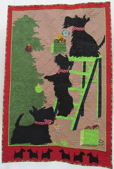 Beautiful Scottie Dog quilt -High Expectations