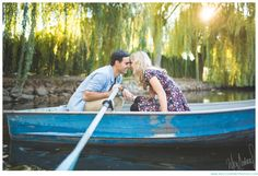 Cutest row-boat engagement session ~ So enchanted like it was straight out of a fairytale!!   Meg Courtney, Photographer