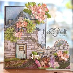 Heartfelt Creations - Blooming Cottage Shaped Card Project