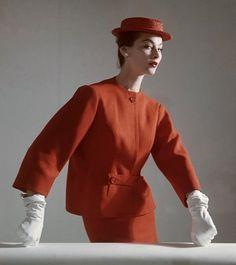 Balenciaga modeled by Dorian Leigh, 1952.