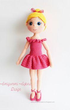 Amigurumi Ballerina Doll http://amigurumiaskina.blogspot.com.tr/2015/09/amigurumi-balerin-bebek-amigurumi.html