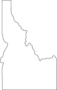 Versatile image for printable map of idaho
