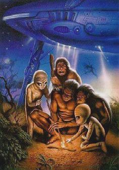 Ancient Alien Theory - Aliens Were Here View Ancient Aliens, Aliens And Ufos, Aliens History, Art Alien, Alien Photos, Alien Theories, Psy Art, Science Fiction Art, Visionary Art