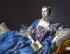 Madame de Pompadour 1750 by Francois Boucher   The French painter Franēois Boucher (1703-1770), a leading exponent of the eloquent and frivolous rococo tradition, was perhaps the greatest decorative artist of the 18th century and a consummate draftsman.