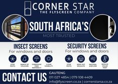 Orner Star - South Africa's most trusted Insect Screens & Security Screens. Contact us today!