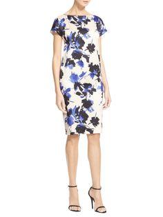 Desert Floral Silk Stretch Charmeuse Dress | St. John Knits